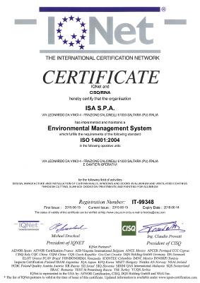 Certificazione IQNET 14001:2004