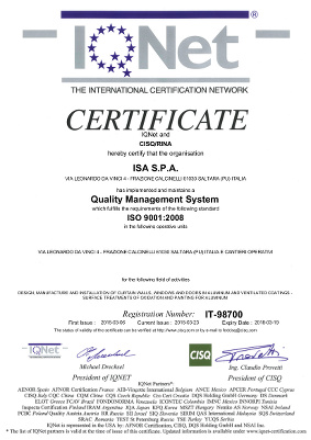 Certificazione IQNET 9001:2008