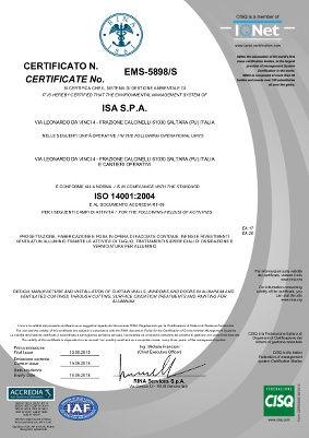 Certificazione RINA 14001:2004